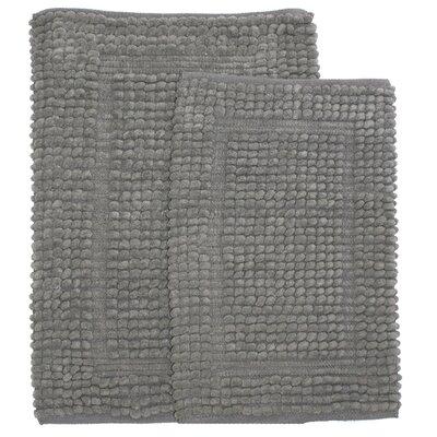 Pamenta 2 Piece Bath Rug Set Color: Gray