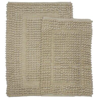 Pamenta 2 Piece Bath Rug Set Color: Linen