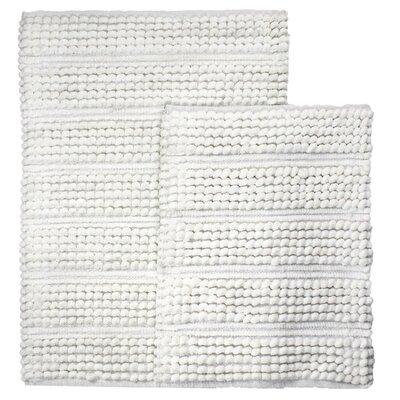 Sacramento 2 Piece Bath Rug Set Color: White
