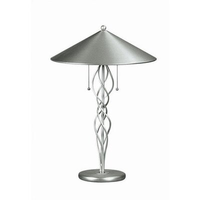 """Lite Source Gada Torsion Large 28"""" H Table Lamp with Cone Shade"""