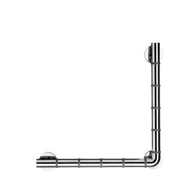 Croydex Grab 'N' Grip L-Shaped Metal Drill & Screw Mount Grab Bar