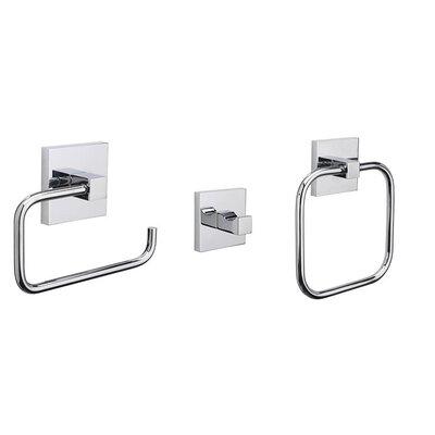 Croydex Brompton 3 Piece Bathroom Accessory Set