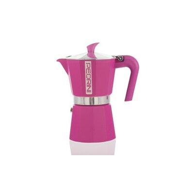 Pedrini Espresso Maker Color: Pink, Size: 3 Cup