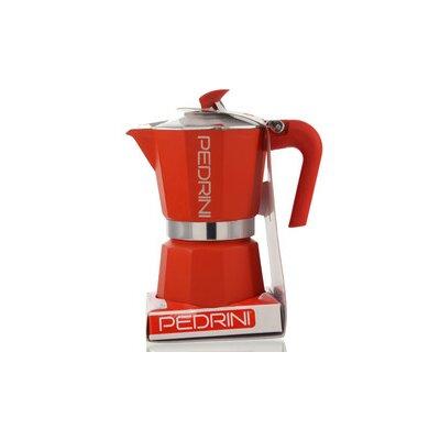 Pedrini Stovetop Espresso Pot Size: 3 Cup