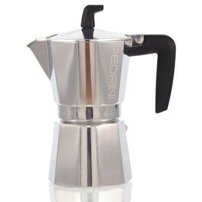 Pedrini Stovetop Espresso Pot Sei Moka Size: 6 Cup
