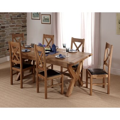 Carlton Furniture Chateau Extandable Dining Table and 6 Chairs