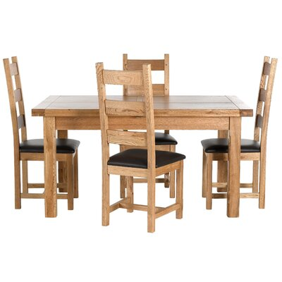 Carlton Furniture Windermere Extendable Dining Table and 4 Chairs