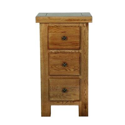 Carlton Furniture Windermere 3 Drawer Bedside Table