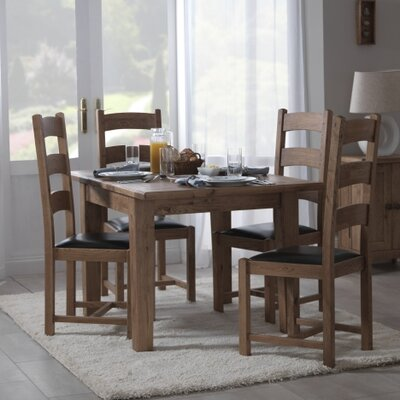 Carlton Furniture Rustic Manor Extendable 100 cm Dining Table and 4 Chairs