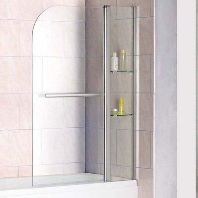 Blue Bear Direct AquaSpa Luxury 140cm x 120cm Hinged Bath Screen