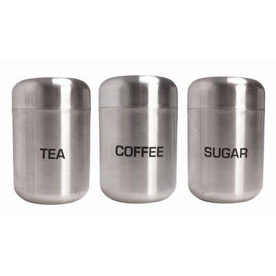 Astroluxe Ltd T/A Zodiac Stainless Products Company 3-tlg. Tee-/ Kaffee-/ Zuckerdosen-Set