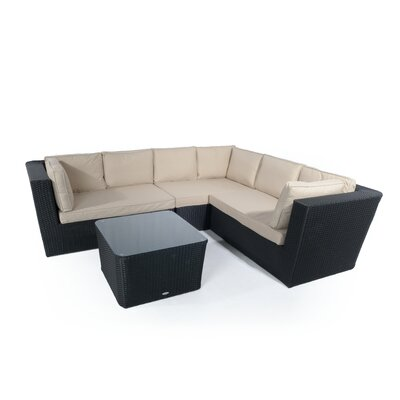 Aspire Outdoors Amalfi 6 Seater Sectional Sofa Set with Cushions