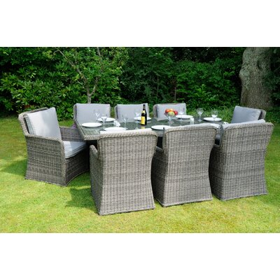 Aspire Outdoors Roma 8 Seater Dining Set with Cushions