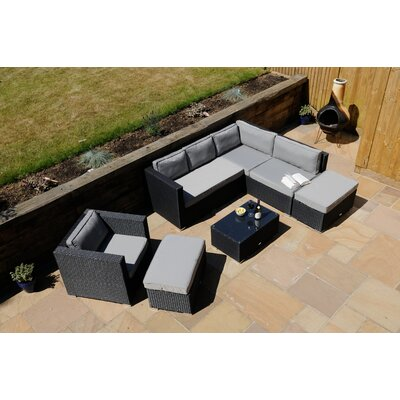 Aspire Outdoors Napoli 5 Seater Sectional Sofa Set with Cushions