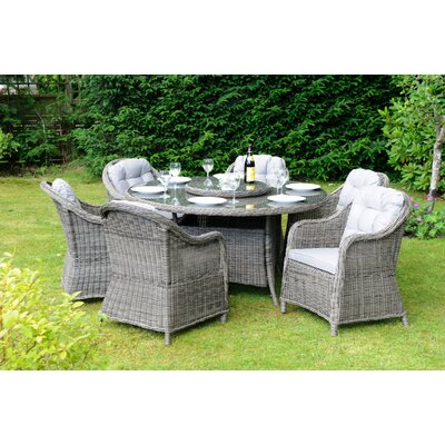 Aspire Outdoors Roma 6 Seater Dining Set with Cushions