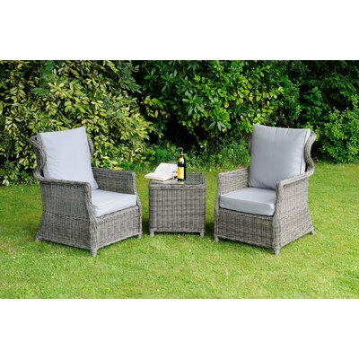 Aspire Outdoors Roma 2 Seater Conversation Set with Cushions
