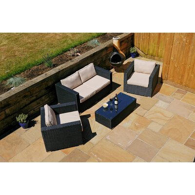 Aspire Outdoors Napoli 4 Seater Sofa Set with Cushions