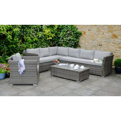 Aspire Outdoors Roma 7 Seater Sectional Sofa Set with Cushions