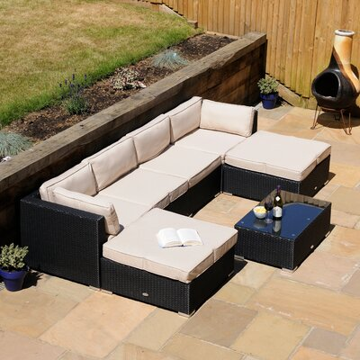 Aspire Outdoors London 4 Seater Sectional Sofa Set with Cushions
