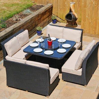 Aspire Outdoors Napoli 8 Seater Sofa Set with Cushions