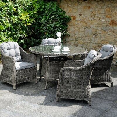 Aspire Outdoors Roma 4 Seater Dining Set with Cushions