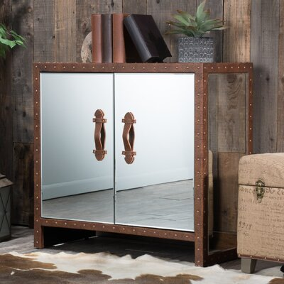 Evelyn Mirrored 2 Door Accent Cabinet
