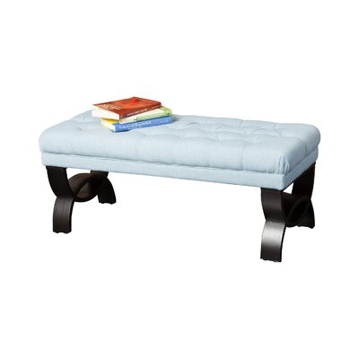 Vancouver Upholstered Bench Color: Blue