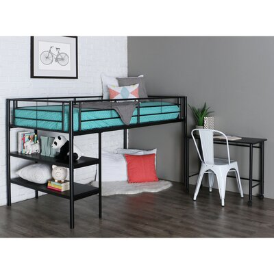 Twin Loft Bed Color: Black