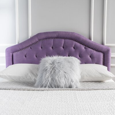 Bridges Upholstered Panel Headboard Upholstery: Light Purple, Size: Twin