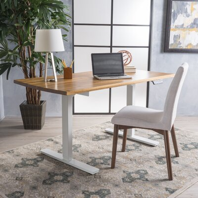 """Murphy Dual Powered Adjustable Standing Desk Finish: White, Size: 45""""H x 58"""" W x 28"""" D"""
