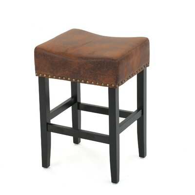 Lafountain Backless Fabric Counter Accent Stool