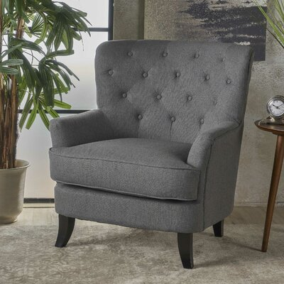 Amini Armchair Upholstery: Charcoal