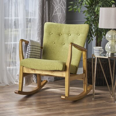 Sauceda Fabric Rocking Chair Fabric: Muted Green