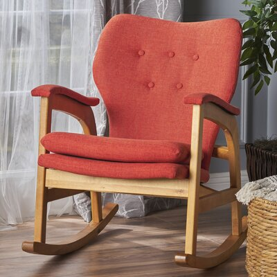 Saulsberry Fabric Rocking Chair Fabric: Muted Orange