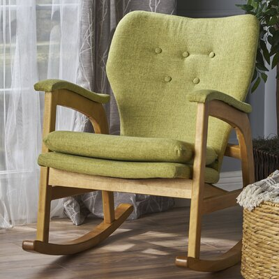 Saulsberry Fabric Rocking Chair Fabric: Muted Green