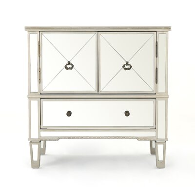 Sascha Mirrored 3 Drawer Cabinet