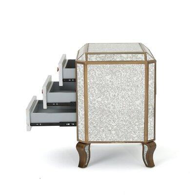 Cheshire Mirrored 3 Drawer Cabinet