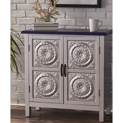 Felan 2 Door Wood Accent Cabinet Color: Navy Blue