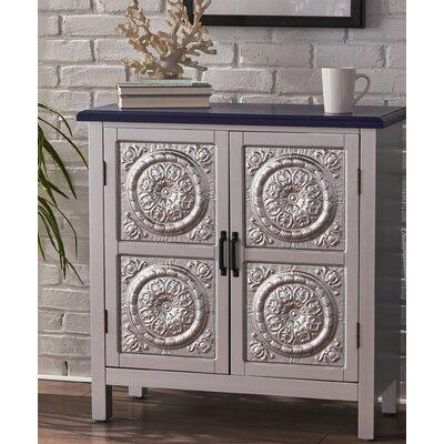 Felan 2 Door Wood Accent Cabinet Color: Navy Blue