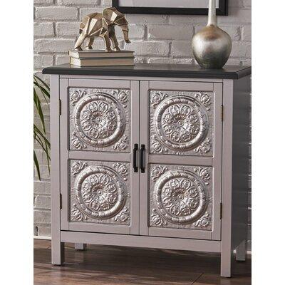 Felan 2 Door Wood Accent Cabinet Color: Charcoal Gray