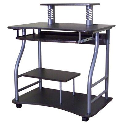 Amt Computer Desk Top: Black Glass