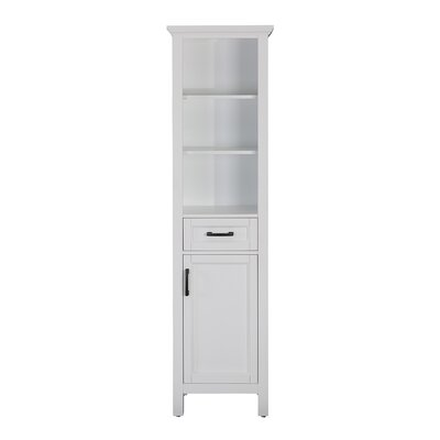 "19"" W x 70"" H Linen Tower Finish: White"