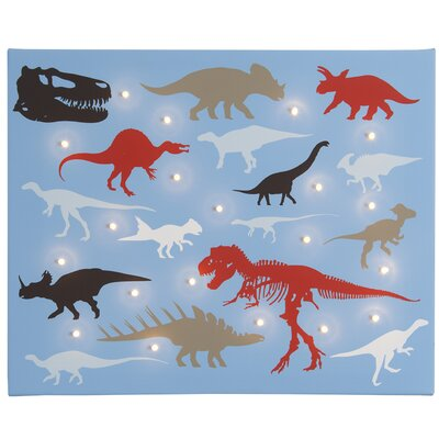 Illuminated Canvas Dinosaurs Graphic Art on Canvas