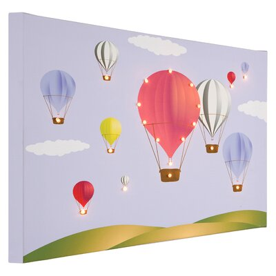 Illuminated Canvas Hot Air Balloons Graphic Art on Canvas