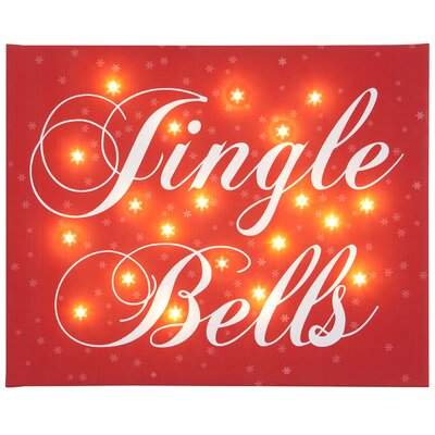 Illuminated Canvas Jingle Bells Typography on Canvas