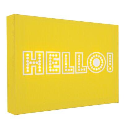 Illuminated Canvas Hello Typography on Canvas