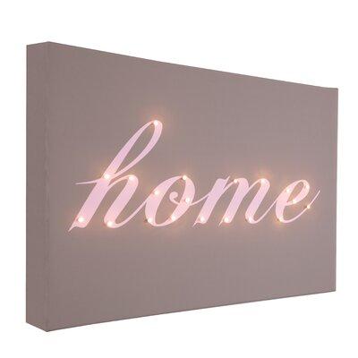 Illuminated Canvas Home Italic Typography on Canvas