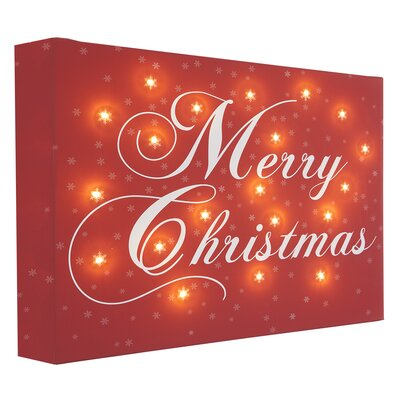 Illuminated Canvas Merry Christmas Typography Wrapped on Canvas