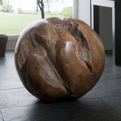 Henke Collection Skulptur Teakholzkugel