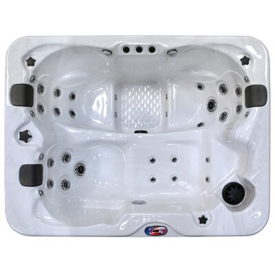 3-Person 34-Jet Spa with Bluetooth Stereo System Color: Sterling and Mist